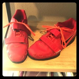 Nike Romaleos 2 Olympic lifting shoes.
